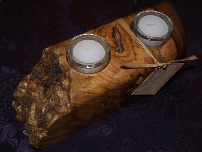 Burl candle